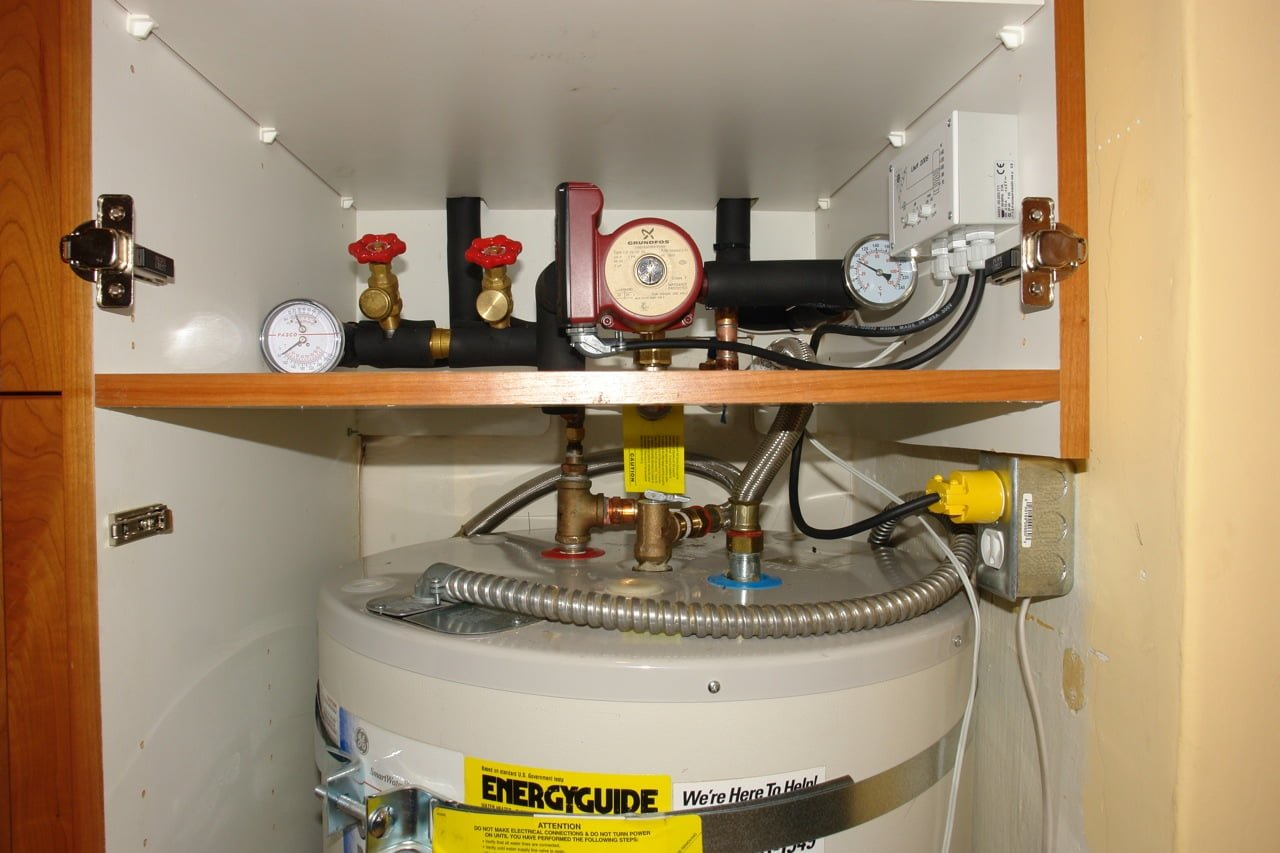 solar water heater in a box cabinet